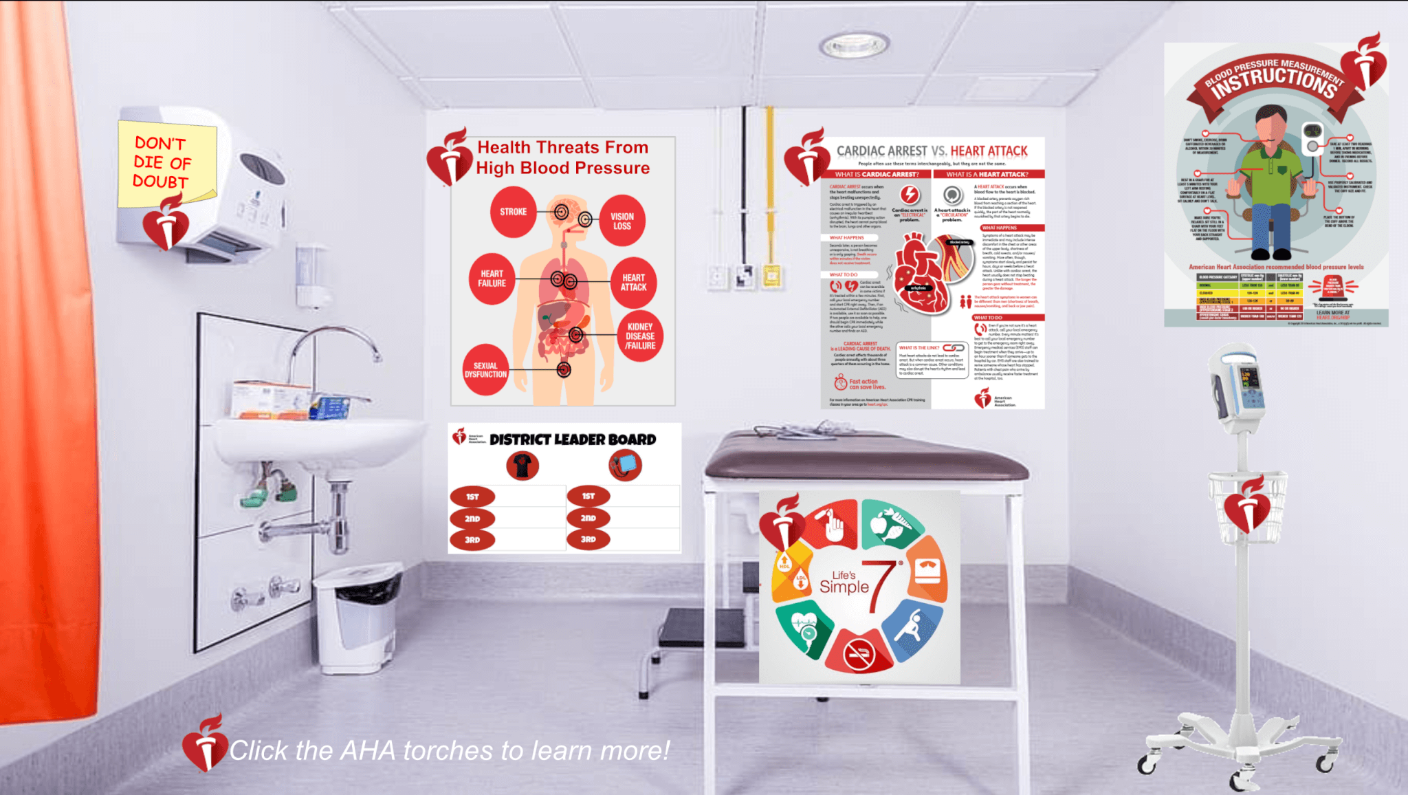 Go Red Virtual Nurse's Room