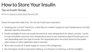 How to store insulin